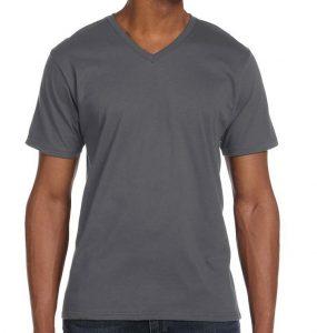 חולצת וי גברים אפורה