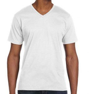 חולצה וי לבנה לגבר