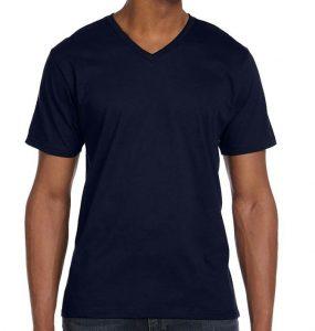 חולצת וי גברים נייבי