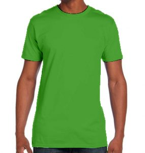 חולצת גברים צווארון עגול ירוק תפוח
