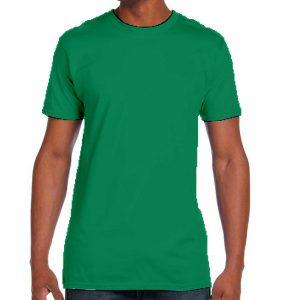 חולצת גברים צווארון עגול ירוק בנטון