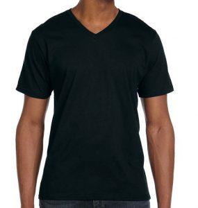 חולצה וי גברים שחורה