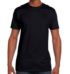 חולצת גברים צווארון עגול שחור