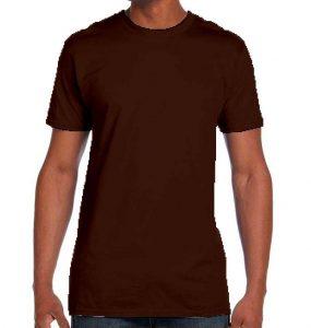 חולצת גברים צווארון עגול חום
