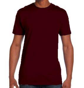 חולצת גברים צווארון עגול בורדו