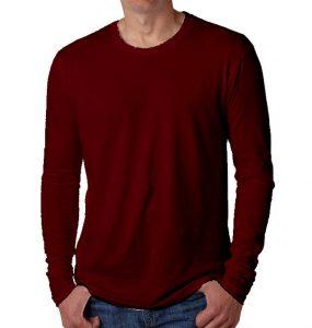 חולצות ארוכות גברים בורדו
