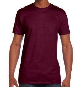 חולצת גברים צווארון עגול סגול חציל