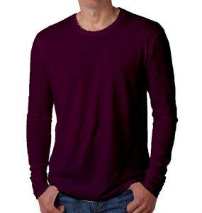 חולצות ארוכות גברים סגול חציל