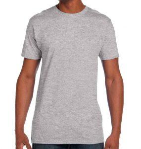 חולצת גברים צווארון עגול אפור מלאנז׳