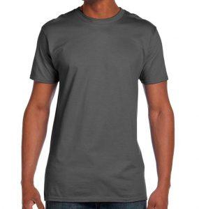 חולצת גברים צווארון עגול אפור עכבר