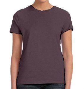 חולצת נשים קצרה צווארון עגול אפור עכבר