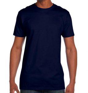 חולצת גברים צווארון עגול נייבי