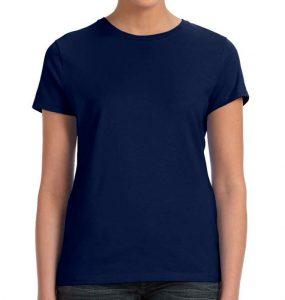 חולצת נשים קצרה צווארון עגול נייבי