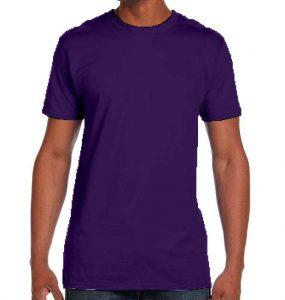 חולצת גברים צווארון עגול סגול