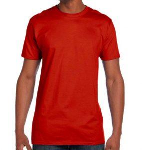 חולצת גברים צווארון עגול אדום