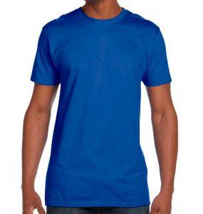 חולצת גברים צווארון עגול כחול רויאל