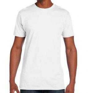 חולצת גברים צווארון עגול לבן